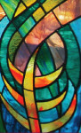 Rookwood Jewish Cemetery Beit Tephillah stained glass window