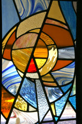 Stained Glass at Beit Tephillah next to Jewish Cemetery Trust Office