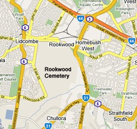 Rookwood Cemetery Map Directions and Maps of Rookwood Cemetery :: Rookwood Jewish  Rookwood Cemetery Map